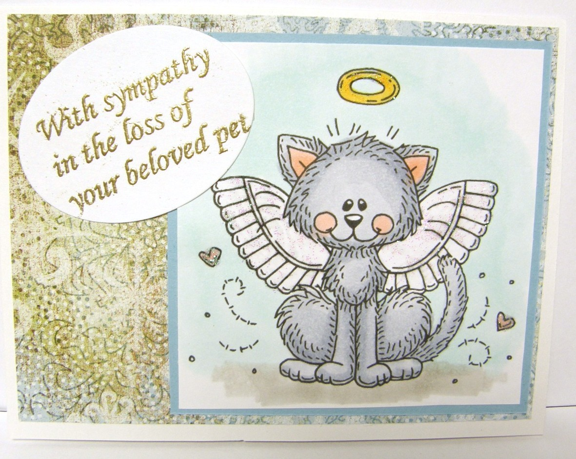 Pet Sympathy Card Cat Angel sister sex anime