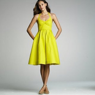 Casual Yellow Bridesmaid Dresses
