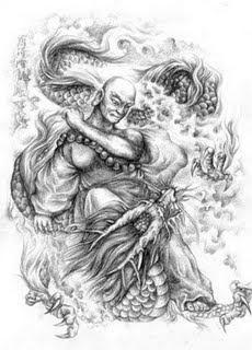 Chinese traditional art tattoo design