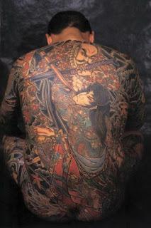 Japanese full back tattoo