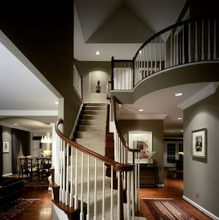Exclusive stair and void for elegance interior home design