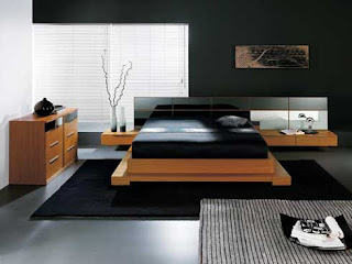 Modern interior design of modern bedroom