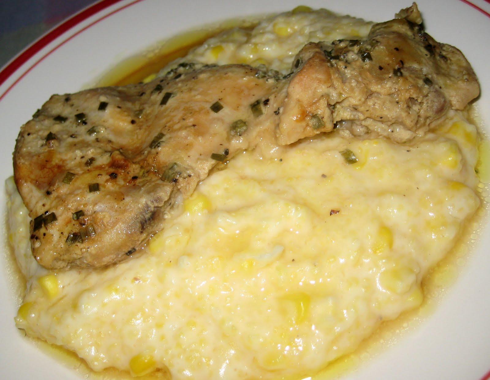 with creamy polenta creamy polenta with goat cheese creamy polenta ...