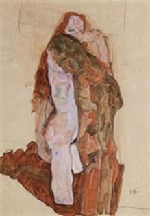 Schiele-Frau und Mann, uomo e donna