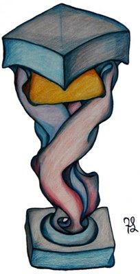 piedistallo,disegno di francis scudellari