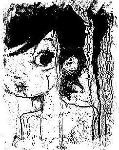 bambola in bianco-nero