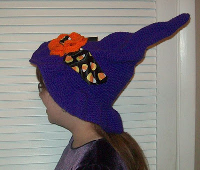 The Parsimonious Pagans Simple Easy Crochet Halloween Witch Hat