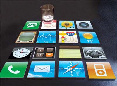 iPhone ikone-podmetači za čaše