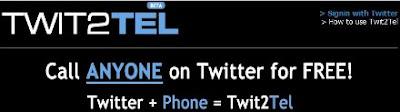 Besplatni telefonski pozivi i govorne poruke sa Twit2Tel