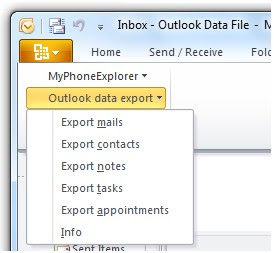 Download Outlook Data Export - dodatak za Microsoft Outlook 2010 i 2007