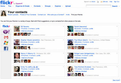 Facebook funkcija na Flickr