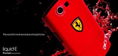 Acer Liquid E Ferrari, luksuzni mobilni telefon Android OS