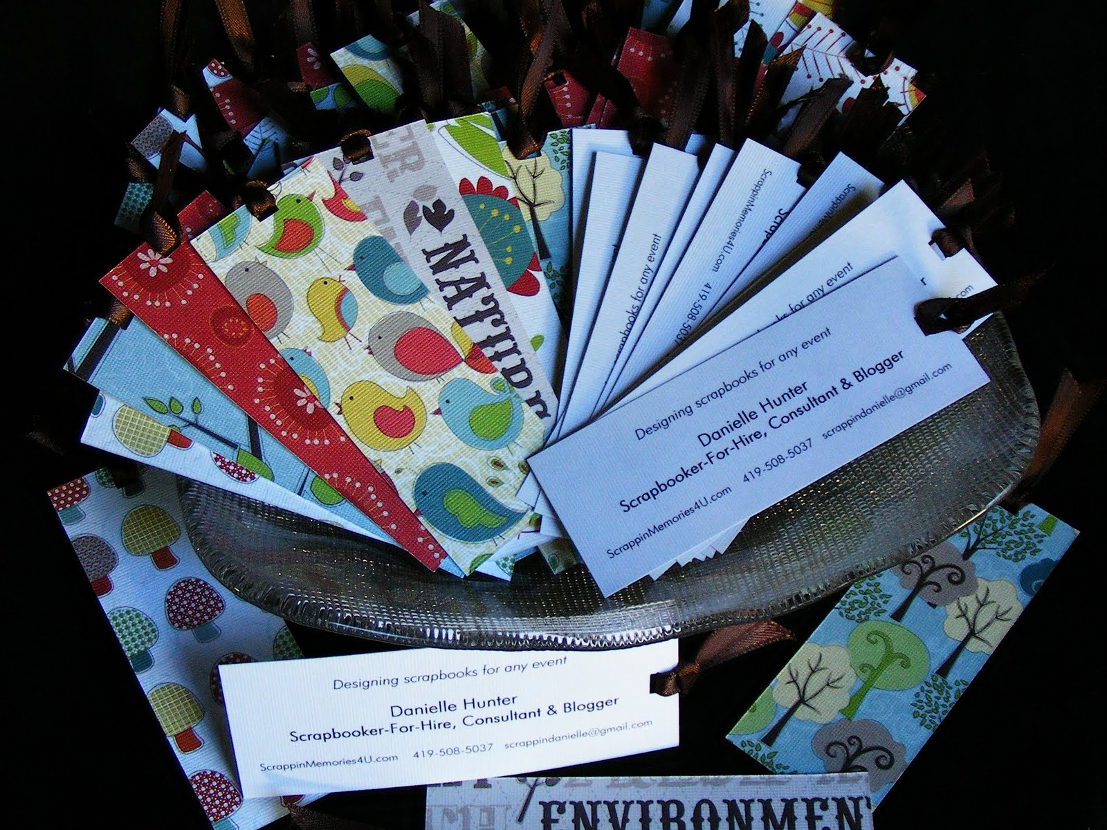 Scrapbook ideas recycled - How To Make Business Card Bookmarks Using Recycled Scrapbook Paper