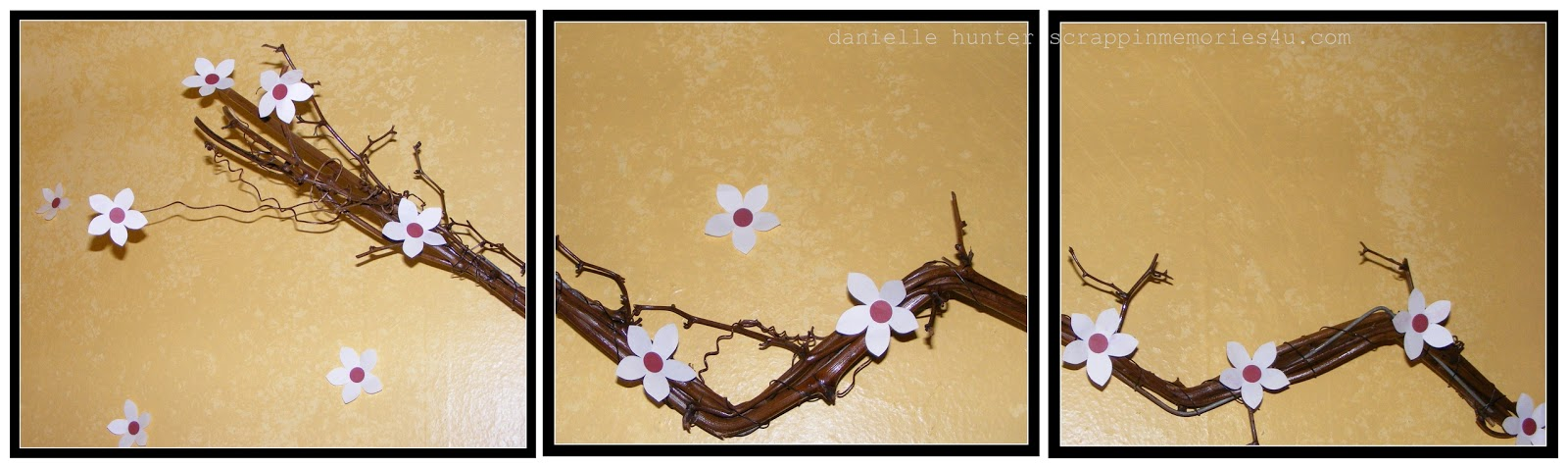 Snap.Scrap.Blog.Tweet: How To Make Wall Art With Handmade Cherry ...