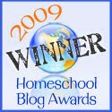 2009 Winner Homeschool Blog Awards
