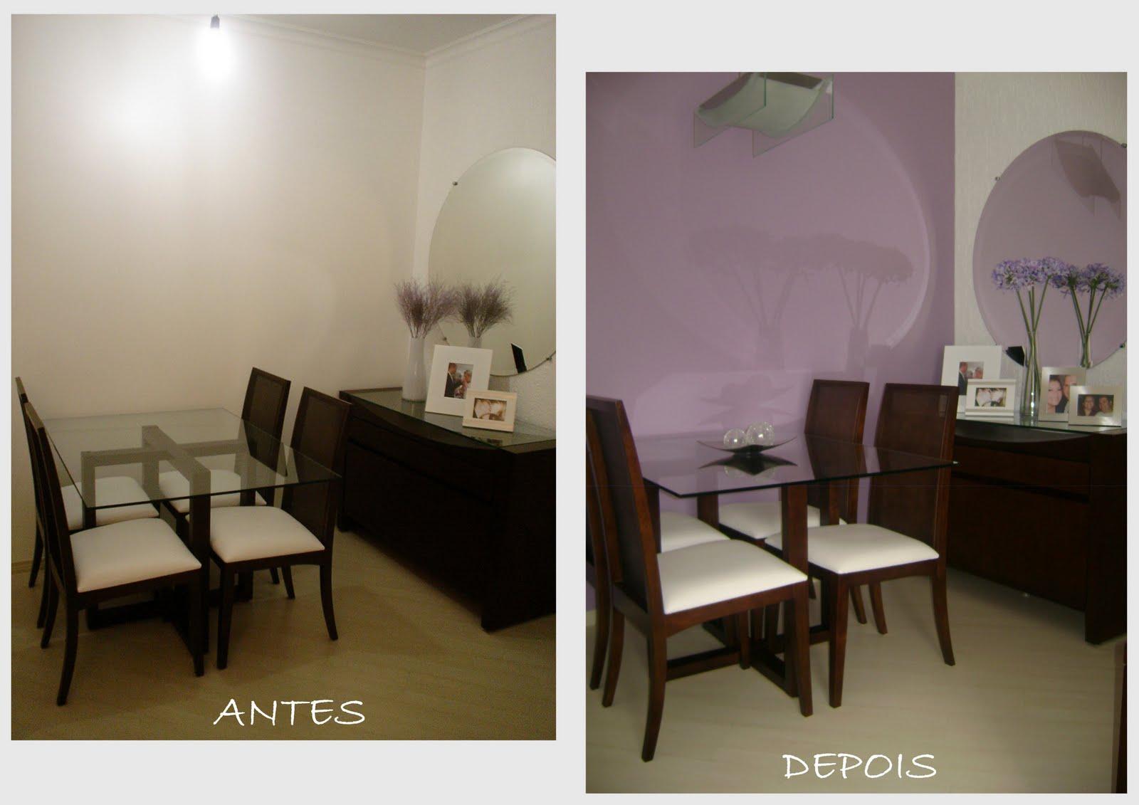 Casa Nova Antes e depois salas de jantar