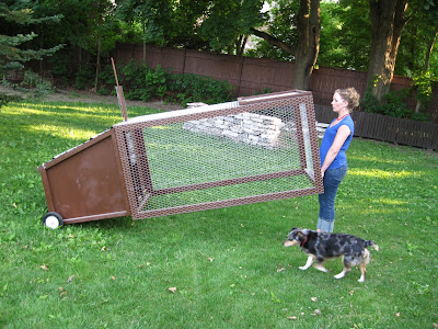 Artisan designs the new urban mobile backyard chicken coop for Mobile chicken coops