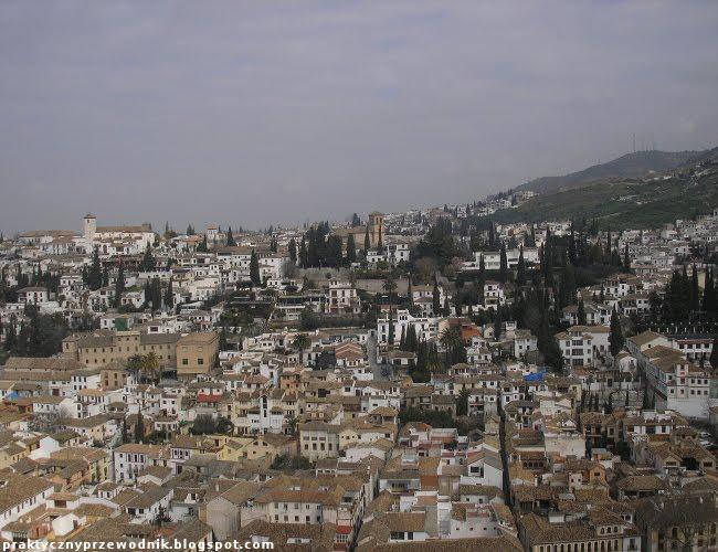 Widok na Grenadę z Alhambry