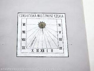 Zegar słoneczny Wadowice Czas ucieka wieczność czeka