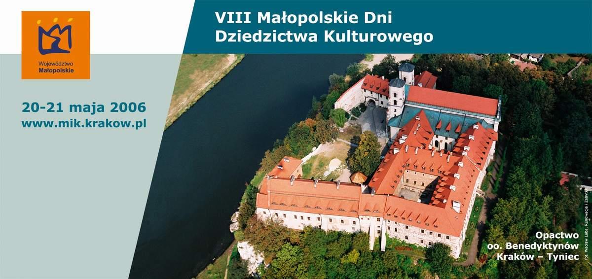 VIII Małopolskie Dni Dziedzictwa Kulturowego 2006 Plakat