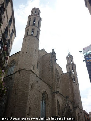 Basilica de Santa Maria del Mar w Barcelonie