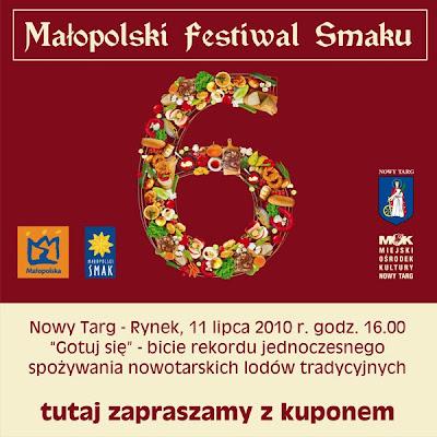 Nowy Targ Małopolski Festiwal Smaku