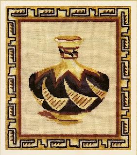 схема вышивки крестом янтарное вино