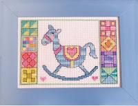 схема вышивки крестом детская лошадка
