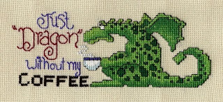 схема вышивки крестом грустный дракон