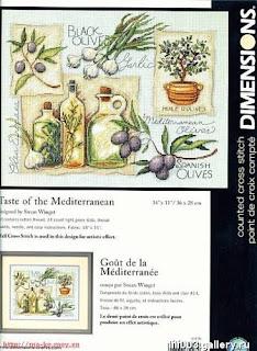 схема вышивки крестом оливки и чеснок