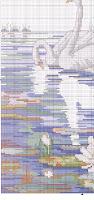 Лебединая семья схема вышивки крестом 85
