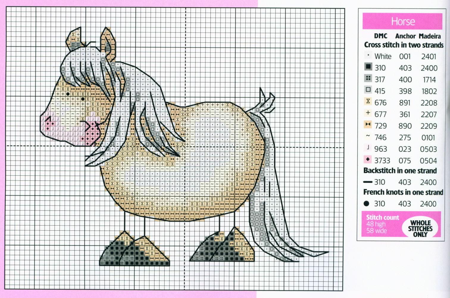 Рукоделие вышивка крестом лошади