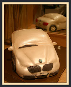 BMW White Coupe. Serie 3 coupe 3 1/2 pound chocolate Cake.
