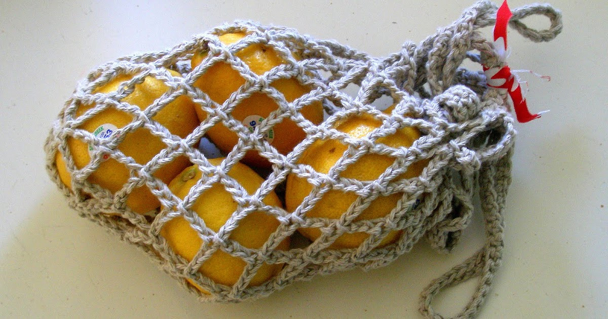 Crochet Vegetable Bag Pattern : Oh the Cuteness!: Crocheted Produce Bag