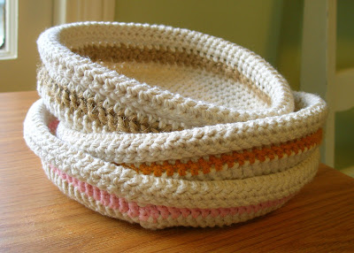 Cotton crochet bowls | She's Crafty - Miko Coffey: photographer