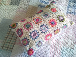 &#39;Candy Flowers&#39; granny cushion