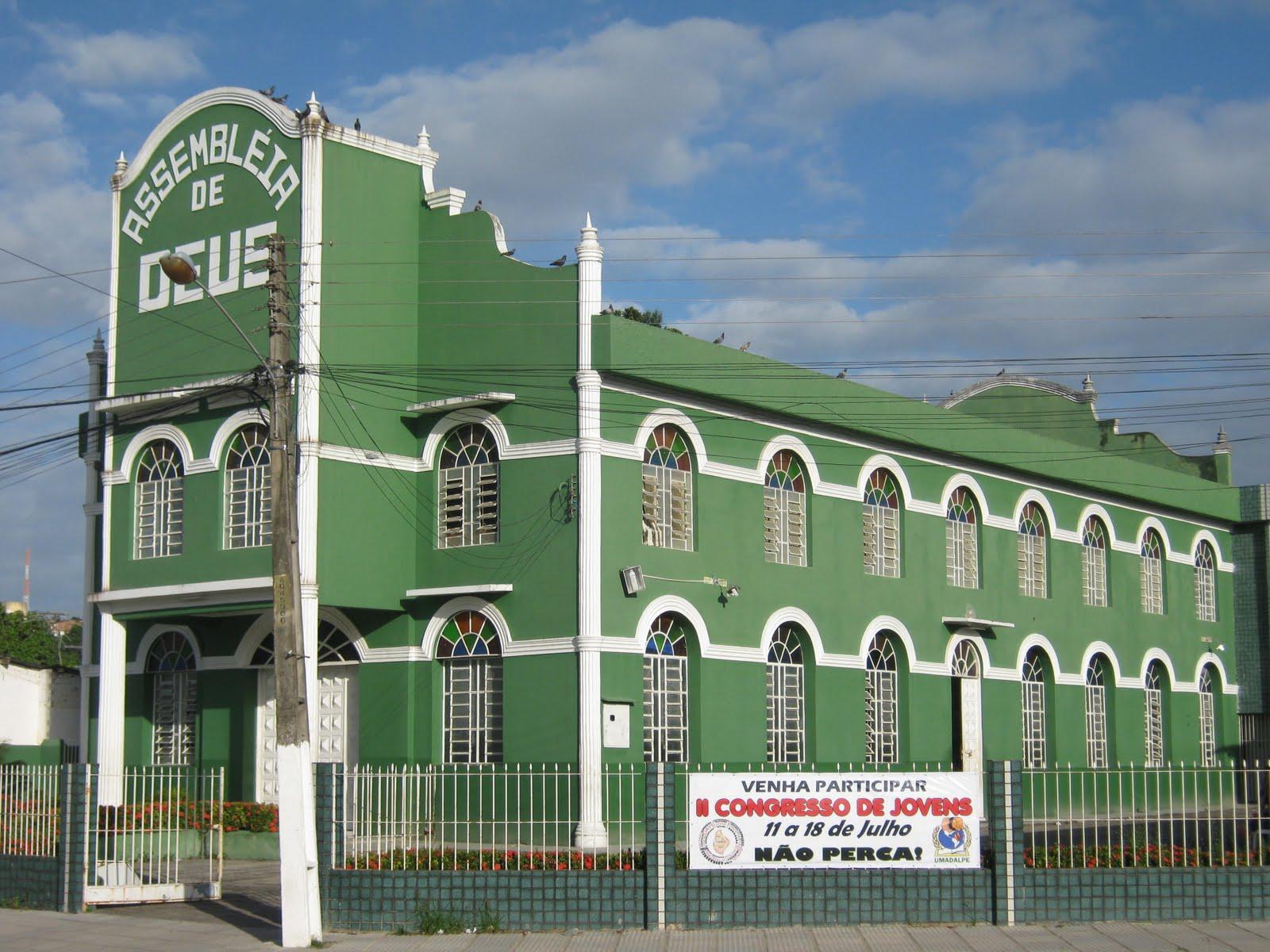 Templo da ASSEMBLEIA DE DEUS em Jardim Paulista Baixo.