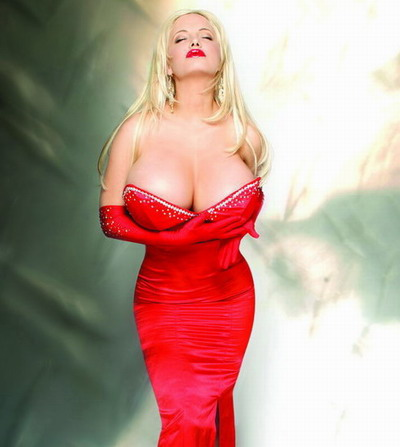 Hot Sabrina Sabrok wearing a red dress pic
