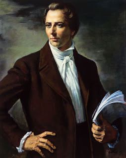 Joseph smith with coart and book on hand pic