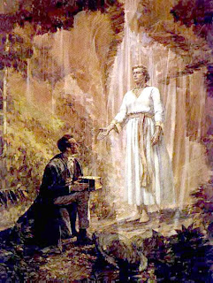 spirit Moroni appeared to Smith three times while in bed and given golden plates picture