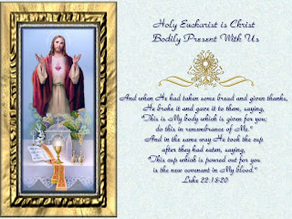 Beautiful Photo frame of Jesus with verse Eucharist picture