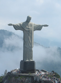 statue of Jesus Christ Christ the redeemer in morning at Corcovado Mountain near Rio de Janeiro of Brazil gallery