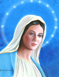 blessed virgin Mary color drawing art free download Christian religious photo