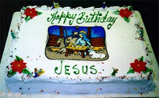 Decorated Happy birthday Jesus white cake with nativity scene drawing art with manger Christmas Christian for the festival seasonal greetings cake for Christmas pictures and religious images download for free
