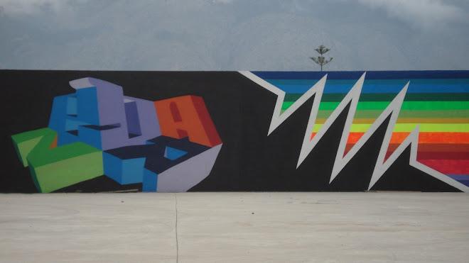 mural con el deif