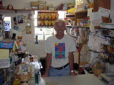 Vernon in his store c. 2007