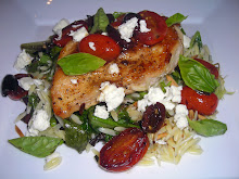 Chicken with tomatoes, basil & feta