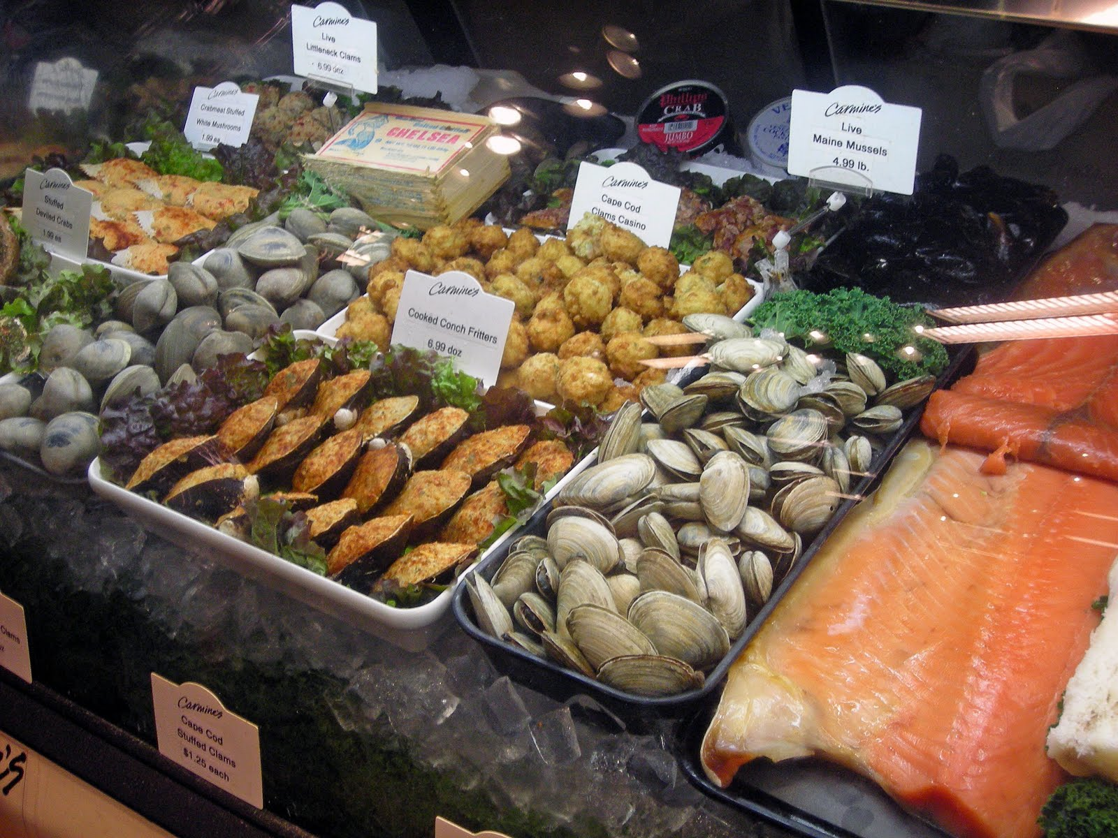 My carolina kitchen carmine s gourmet market palm beach for Florida fish market