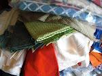 É com todo este conjunto de tecidos que são produzidos almofadas, toalhas, sacos, bolsas e outros