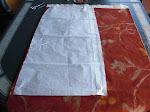 Colocação do molde no tecido para cortar